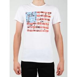 tekstylia Męskie T-shirty z krótkim rękawem Wrangler T-shirt  S/S Modern Flag Tee W7A45FK12 biały
