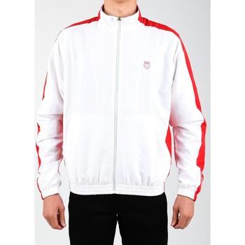 tekstylia Męskie Bluzy dresowe K-Swiss Kurtka lifestylowa  Accomplish Jacket 100250-119 biały, czerwony