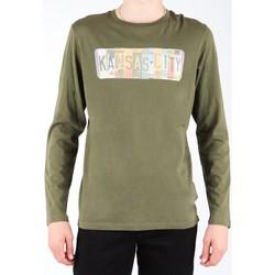 tekstylia Męskie T-shirty z długim rękawem Lee T-shirt  L848AI oliwkowozielony