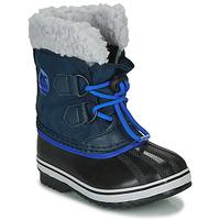 Buty Dziecko Śniegowce Sorel CHILDRENS YOOT PAC NYLON Niebieski