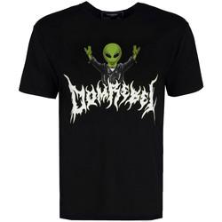 tekstylia Męskie T-shirty z krótkim rękawem Domrebel  Czarny