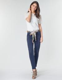 tekstylia Damskie Spodnie z pięcioma kieszeniami Betty London MIRABINE Marine