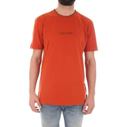 tekstylia Męskie T-shirty z krótkim rękawem Calvin Klein Jeans K10K104934 Pomarańczowy