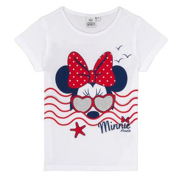 tekstylia Dziewczynka T-shirty z krótkim rękawem TEAM HEROES MINNIE Biały
