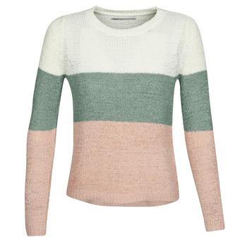 tekstylia Damskie Swetry Only ONLGEENA Beżowy / Różowy