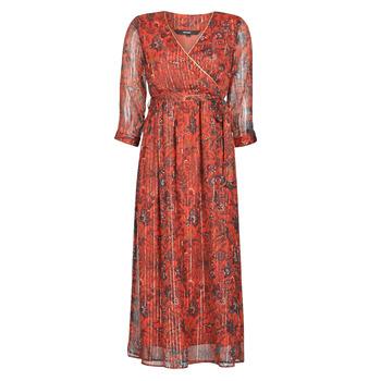 tekstylia Damskie Sukienki długie Vero Moda VMGLAMMY Czerwony