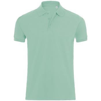 tekstylia Męskie Koszulki polo z krótkim rękawem Sols PHOENIX MEN SPORT Verde
