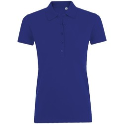 tekstylia Damskie Koszulki polo z krótkim rękawem Sols PHOENIX WOMEN SPORT Azul
