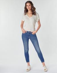 tekstylia Damskie Spodnie bojówki Only ONLKENDELL Niebieski / Medium