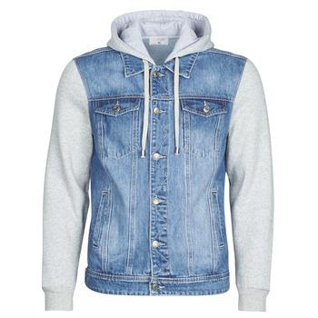 tekstylia Męskie Kurtki jeansowe Yurban LAURYNE Niebieski / Medium