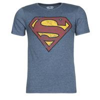tekstylia Męskie T-shirty z krótkim rękawem Yurban SUPERMAN LOGO VINTAGE Marine