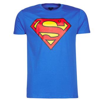 tekstylia Męskie T-shirty z krótkim rękawem Yurban SUPERMAN LOGO CLASSIC Niebieski