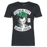 tekstylia Męskie T-shirty z krótkim rękawem Yurban INSANE JOKER Czarny