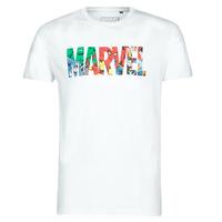 tekstylia Męskie T-shirty z krótkim rękawem Yurban MARVEL HERO LOGO Biały