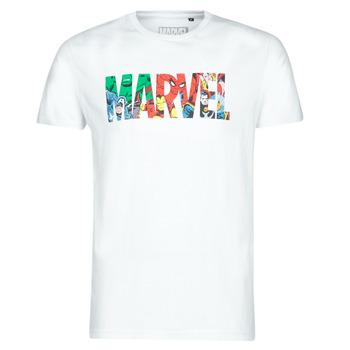 tekstylia Męskie T-shirty z krótkim rękawem Casual Attitude MARVEL HERO LOGO Biały