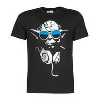 tekstylia Męskie T-shirty z krótkim rękawem Yurban DJ YODA COOL Czarny