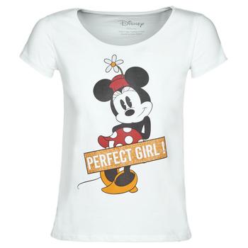 tekstylia Damskie T-shirty z krótkim rękawem Moony Mood MINNIE PERFECT GIRL Biały