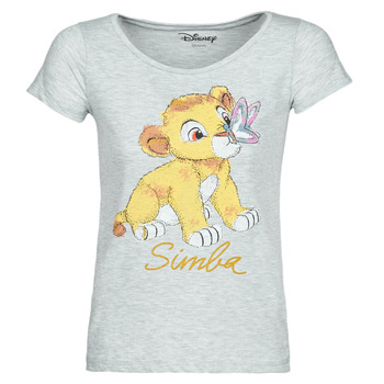 tekstylia Damskie T-shirty z krótkim rękawem Yurban THE LION KING Szary