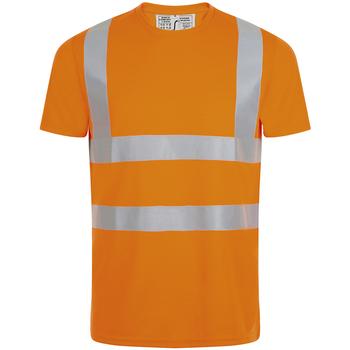 tekstylia Męskie T-shirty z krótkim rękawem Sols MERCURE PRO VISIBLITY WORK Naranja
