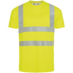 tekstylia Męskie T-shirty z krótkim rękawem Sols MERCURE PRO VISIBLITY WORK Amarillo