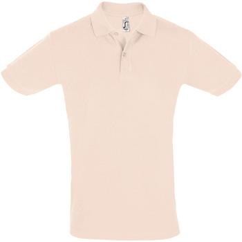 tekstylia Męskie Koszulki polo z krótkim rękawem Sols PERFECT COLORS MEN Rosa