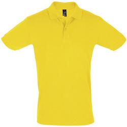 tekstylia Męskie Koszulki polo z krótkim rękawem Sols PERFECT COLORS MEN Amarillo