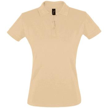 tekstylia Damskie Koszulki polo z krótkim rękawem Sols PERFECT COLORS WOMEN Marrón