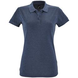 tekstylia Damskie Koszulki polo z krótkim rękawem Sols PERFECT COLORS WOMEN Azul