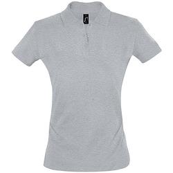 tekstylia Damskie Koszulki polo z krótkim rękawem Sols PERFECT COLORS WOMEN Gris
