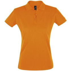 tekstylia Damskie Koszulki polo z krótkim rękawem Sols PERFECT COLORS WOMEN Naranja