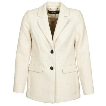 tekstylia Damskie Płaszcze Vero Moda VMCALA Biały