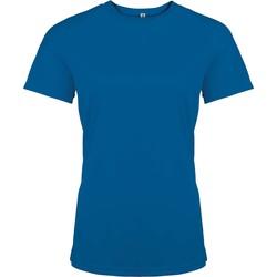 tekstylia Damskie T-shirty z krótkim rękawem Proact T-Shirt femme manches courtes  Sport bleu marine