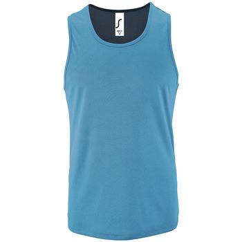 tekstylia Męskie Topy na ramiączkach / T-shirty bez rękawów Sols SPORT TT MEN Azul