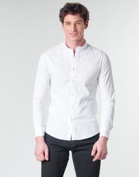 tekstylia Męskie Koszule z długim rękawem Casual Attitude MASS Biały