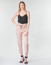 tekstylia Damskie Spodnie z pięcioma kieszeniami Betty London MOUDI Różowy