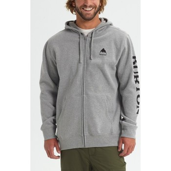 tekstylia Męskie Bluzy Burton Men's Elite Full Zip Hoodie Gray Heather