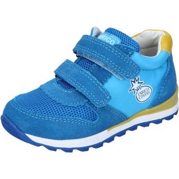 Buty Chłopiec Trampki niskie Enrico Coveri sneakers tessuto camoscio Blu