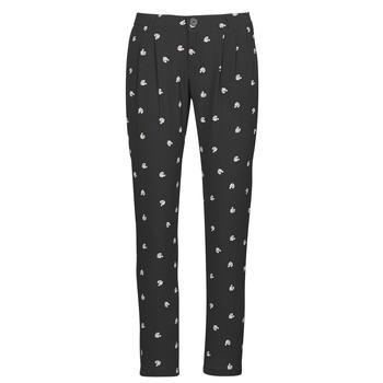 tekstylia Damskie Spodnie z lejącej tkaniny / Alladynki Ikks BR22125 Czarny