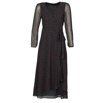 tekstylia Damskie Sukienki długie Ikks BR30225 Czarny
