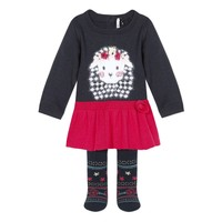 tekstylia Dziewczynka Komplet 3 Pommes 3R36050-85 Wielokolorowy