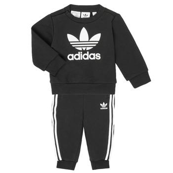 tekstylia Dziecko Komplet adidas Originals CREW SET Czarny