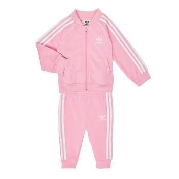 tekstylia Dziewczynka Komplet adidas Originals SST TRACKSUIT Różowy