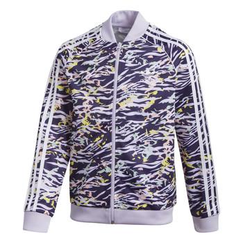 tekstylia Dziewczynka Bluzy dresowe adidas Originals SST TOP Fioletowy