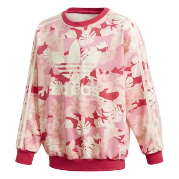 tekstylia Dziewczynka Bluzy adidas Originals CREW Różowy