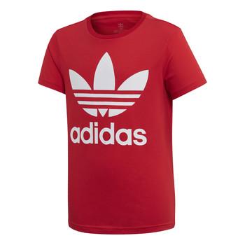 tekstylia Dziecko T-shirty z krótkim rękawem adidas Originals TREFOIL TEE Czerwony
