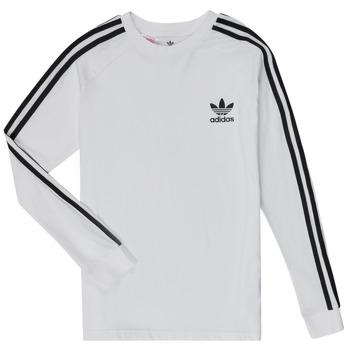 tekstylia Chłopiec T-shirty z długim rękawem adidas Originals 3STRIPES LS Biały