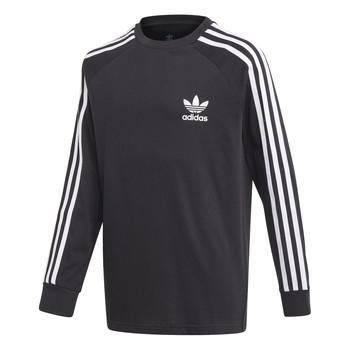 tekstylia Chłopiec T-shirty z długim rękawem adidas Originals 3STRIPES LS Czarny