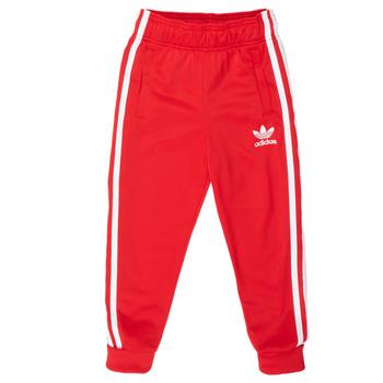 tekstylia Dziecko Spodnie dresowe adidas Originals SST TRACKPANT Czerwony