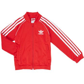 tekstylia Chłopiec Bluzy dresowe adidas Originals SST TRACKTOP Czerwony