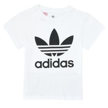tekstylia Dziecko T-shirty z krótkim rękawem adidas Originals TREFOIL TEE Biały